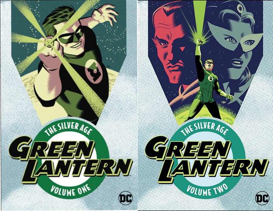 Book covers for Silver Age Green Lantern Vol. 1 and 2