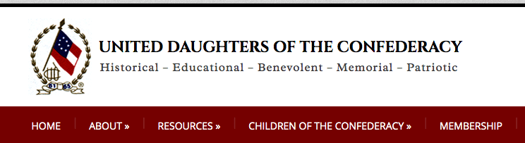 Image of the banner from the United Daughters of the Confederacy website.