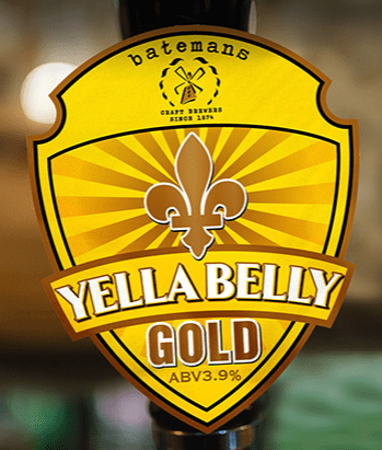 Image of a tapper handle for Batemans Brands Yella Belly Gold.